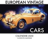 European Vintage Cars Calendar 2020: 16 Month Calendar