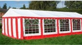 Classic Plus Partytent PVC 5x8x2 mtr in Wit-Rood