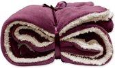 Unique Living Lars - Fleece polyester - Plaid - 150x200 cm - Pomegranate