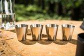 Roestvrij stalen Shot glaasjes (set van 4 stuks)