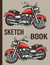 Sketch book: Large Sketchbook For Creative Artists: Blank Paper For Drawing And Doodling (Awesome Artistic Motorcycle Cover)