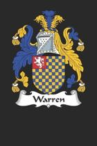 Warren: Warren Coat of Arms and Family Crest Notebook Journal (6 x 9 - 100 pages)