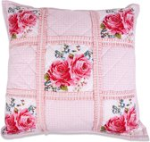 In The Mood Rosemary Quilt - Sierkussen - 50x50 cm - Roze