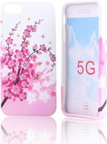Special Soft Silicon Hoesje iPhone 5 Pink Spring