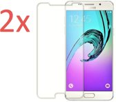 2x Screenprotector voor Samsung Galaxy A5 (2017) - Tempered Glass Screenprotector Transparant 2.5D 9H (Gehard Glas Screen Protector) - (0.3mm) (Duo Pack)