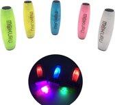 Proclaims Fidget tumbler stick Geel met led light