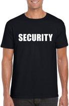 Security tekst t-shirt zwart heren XL