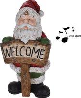 Universeel Kerstdecoratie Kerstman Met licht en geluid - 72 cm hoog