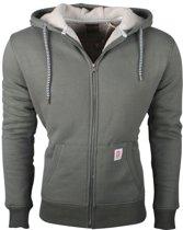 Deeluxe - Heren Vest- Bontgevoerd - Capuchon - Model Chilling - Khaki