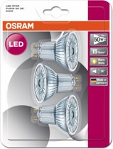 OSRAM 3-pack LED lampen - GU10 - 4,3W - 350lm - 2700K warm wit - 36 graden