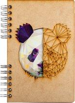 Houten notitieboek - A5 – Blanco – Panda