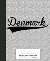 Wide Ruled Line Paper: DENMARK Notebook