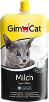 GimCat Kattenmelk Pouch - Hersluitbaar - Kattensnack - 200 ml