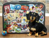Cobble Hill puzzle 500 pieces - Dachshund 'Round the World