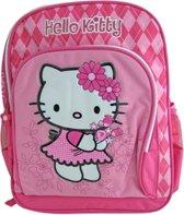 Hello Kitty rugzak roze bloemen