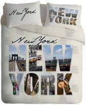 New York - Dekbedovertrek - Eenpersoons - 140x200 cm + 1 kussensloop 60x70 cm - Multi kleur