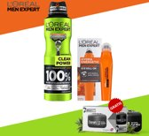 Loreal Men Expert Hydra Energetic Oogroller 10ml en Loreal Men Expert Clean Power Deodorant Spray 200ml + Gratis Dorsh D1 Haarwax 150ml