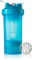 Blender Bottle - Pro Stak AQUA / Eiwitshaker / Bidon - Full Colour - 650 ml - Aqua