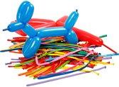 Ballonnen, l: 152 cm, 100 stuks, diverse kleuren