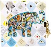 GOLDBUCH GOL-44341 TURNOWSKY dagboek ETHNO ELEPHANT met slot
