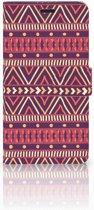 Motorola Moto Z Play Uniek Boekhoesje Aztec Purple