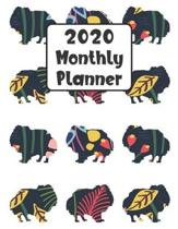 2020 Monthly Planner: Pomeranian Dog - 12 Month Planner Calendar Organizer Agenda with Habit Tracker, Notes, Address, Password, & Dot Grid P