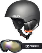 Sinner Combi-Pack (Lost Trail Skihelm + Toxic Skibril - Maat S - Zwart