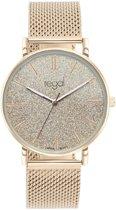 Regal - Regal mesh horloge glitter rosekleurig