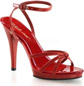 EU 45 = US 14   FLAIR-436   4 1/2 Heel, 1/2 PF Strappy Ankle Wrap PF Sandal