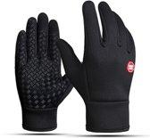 Commodus - Sport handschoenen - maat XL - Zwart - Antislip - Waterafstotend - Winddicht - Thermo - Windafstotend - Touchscreen