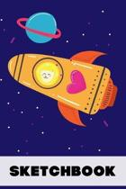 Cat Astronaut Sketchbook for Kids (120 Pages): 6x9, Soft Cover, Matte Finish