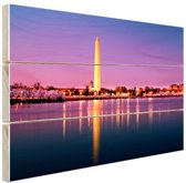 FotoCadeau.nl - Washington Monument Hout 120x80 cm - Foto print op Hout (Wanddecoratie)