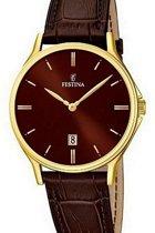 Festina F16747/3 Klassiek - Horloge- Staal - Zilverkleurig - 39 mm
