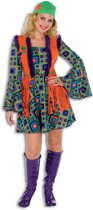 Hippie Kostuum   Hippie Summer Of Love   Vrouw   Maat 46   Carnaval kostuum   Verkleedkleding