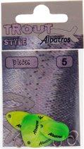 Albatros Trout Spinblades - Maat 0 - Geel - Groen