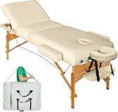 Massagetafel met matras van 10 cm hoog + draagtas beige