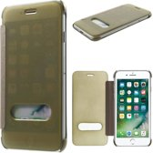 GSMWise - Apple iPhone 7 - Doorzichtige Window View Case - Goud