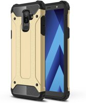 Armor Hybrid Hoesje Samsung Galaxy A6 Plus (2018) - Goud