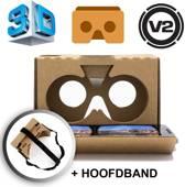 DisQounts - Google Cardboard V2 + Hoofdband - Versie 2 van de optimale Virtual Reality Ervaring!