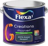 Flexa Creations - Muurverf Extra Mat - 100% Oceaan - Mengkleuren Collectie- 2,5 Liter
