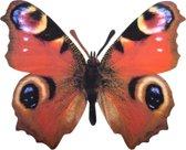 Metalen vlinder pauwenoog 25 x 20 cm - muurvlinder
