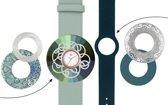 Deja Vu Premium horlogeset groen/blauw met rosékleurig uurwerk