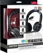 Speedlink XANTHOS - Stereo Console Gaming Headset - Zwart PS4 + PS3 + Xbox 360 + PC