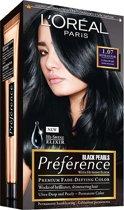 L'Oréal Paris Préférence Black Pearls 1.07 Deep Black Pearl Ultra Zwart - Haarkleuring