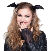 Halloween - Diadeem met vleermuis vleugels