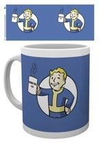 Fallout 4 - Vault Boy Holding Mug - Blue