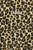 Camila: Personalized Notebook - Leopard Print (Animal Pattern). Blank College Ruled (Lined) Journal for Notes, Journaling, Dia