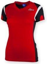 Eabel T-shirt dames - Rood/Zwart