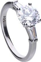 Diamonfire - Zilveren ring met steen Maat 17.5 - Bridal - Zirkonia