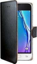 Samsung Galaxy J1 Mini 2016 Echt Leer Hoesje Zwart